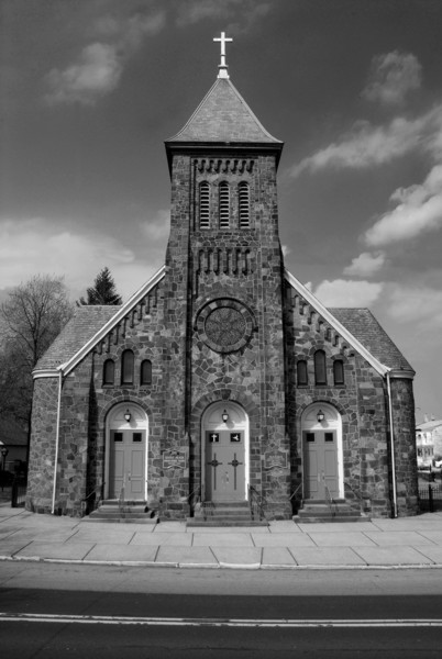 church-front-BW